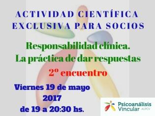 2ª Encuentro Responsabilidad clínica La práctica de dar respuestas.