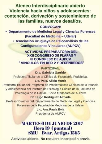 Ateneo Interdisciplinario abierto 6 de junio de 2017