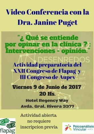 Video Conferencia con la Dra Janine Puget