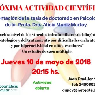 ACTIVIDAD CIENTIFICA 10 de mayo