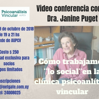 Video Conferenca con la Dra. Janine Puget